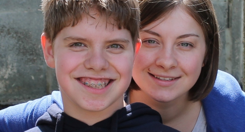 Alfie and his sister Charlotte (taken when he was younger teenager)